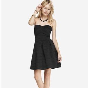 Express Strapless Black Mini Dress